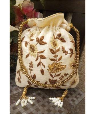 White Potli Bag
