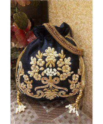 Royal Blue Potli Bag