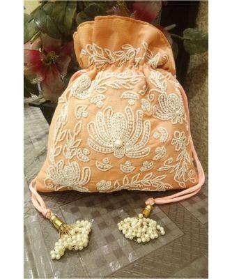 Orange Potli Bag