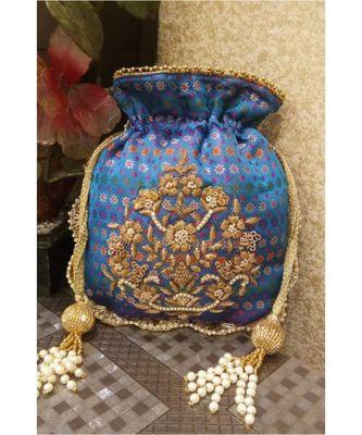 Blue Potli Bag