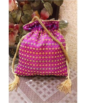 Pink Potli Bag
