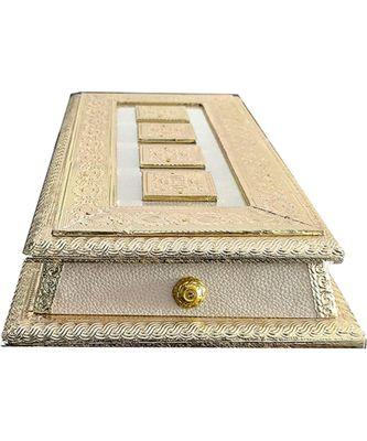 Rajwadi Oxidized Handmade Wooden 3 Compartment Beautiful Dry Fruit Box Set, Gift Box (OXY137)