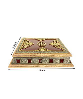 Rajwadi Wooden Handmade Decorative 4 section Dry Fruits Box ,Gift Box (OXY_163)