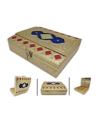 Oxidized Handmade Wooden 4 Compartment Beautiful Dry Fruit Box Set, Gift Box (OXY_138)