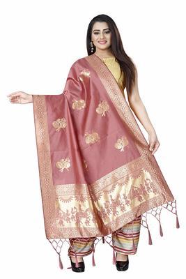 Coffi Women's Banarasi silk Dupatta Traditional