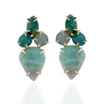 sea green precious stone cute stylish fashionable earring