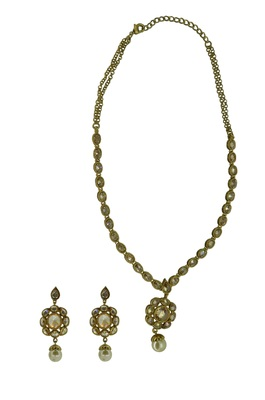 Gold cubic zirconia necklaces