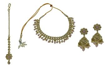 Gold cubic zirconia necklaces
