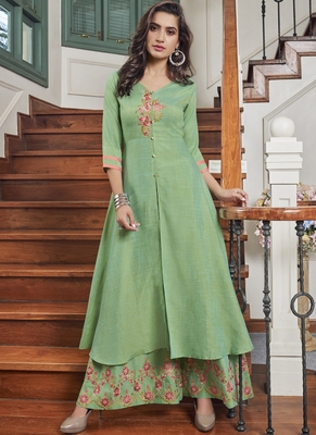 pastel embroidered stitched salwar