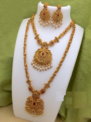 South Indian Traditional Necklace Jewellery Combo Set  for Women