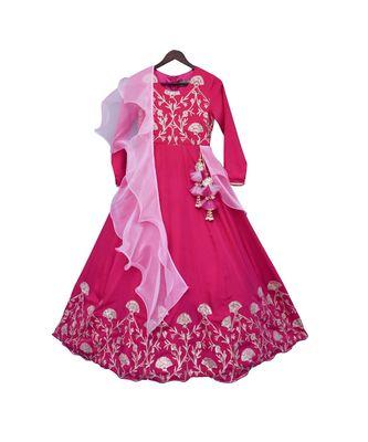 Hot Pink Gota Anarkali