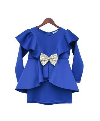 Blue Neoprene Dress