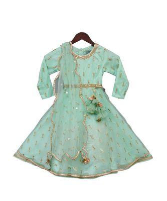 Sea Green Anarkali Dress