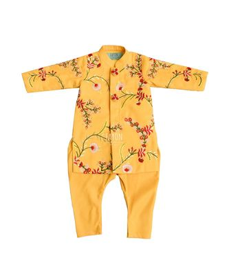Mango Yellow Embroidery Ajkan
