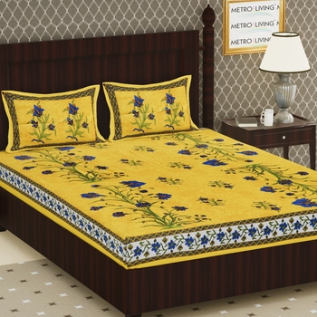 Cotton Double Floral Bedsheet