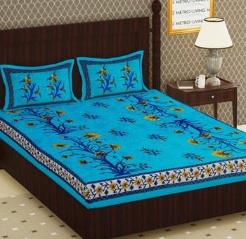 Cotton Double Floral Bedsheet