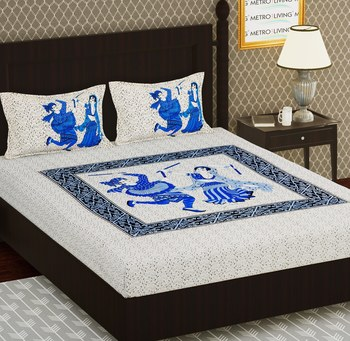 Cotton Double Printed Bedsheet