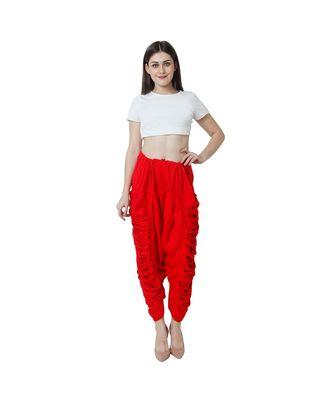 red plain Reyon trousers