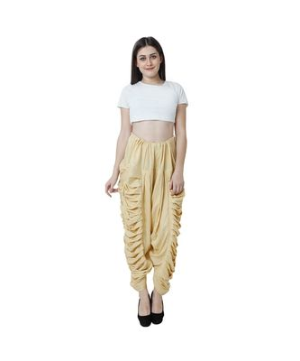 beige plain Reyon trousers