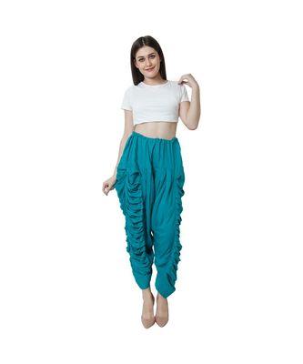 blue plain Reyon trousers