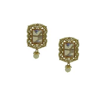 Champagne cubic zirconia earrings