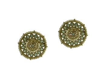 Grey cubic zirconia earrings