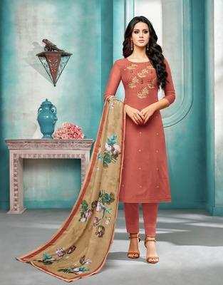 Maroon printed silk salwar