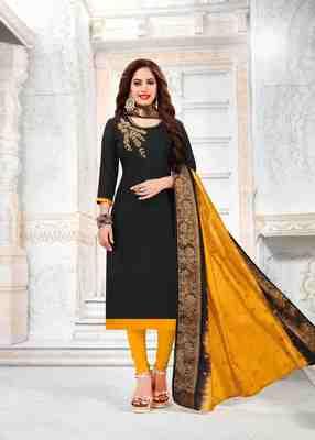 Black printed cotton salwar