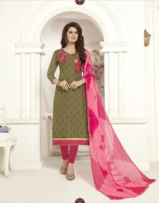 Mehendi printed cotton salwar
