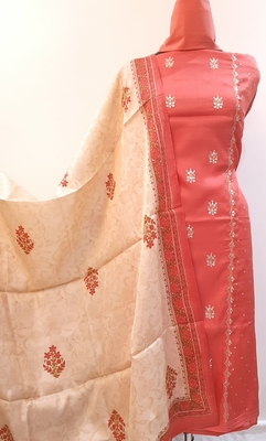 Women's Cotton Silk Unstitched Dress Material