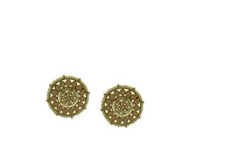 Peach cubic zirconia earrings