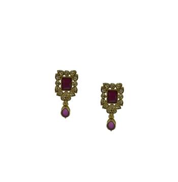 Ruby cubic zirconia earrings