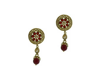 Ruby cubic zirconia earrings