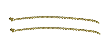Gold cubic zirconia anklets