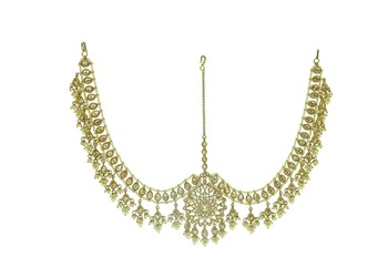 Gold cubic zirconia hair-accessories