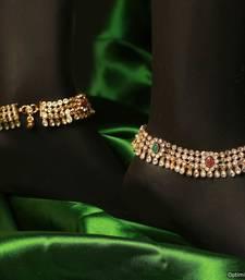 Buy Beautiful multicolor jewellery anklet online