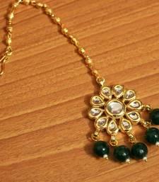 Green Onyx Maang-Tikka