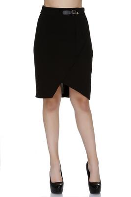 Black printed polyester skirts