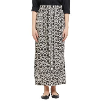 Black printed viscose skirts
