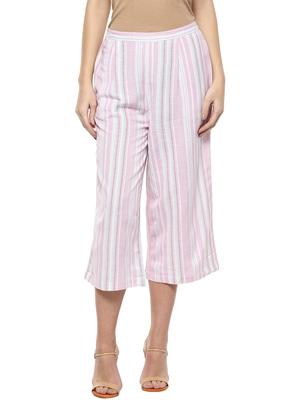 Pink printed cotton bottoms