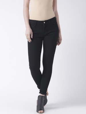 Black printed cotton bottoms