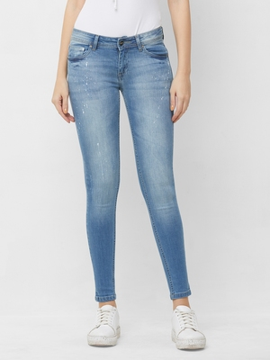 Blue printed cotton bottoms