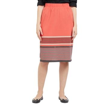 Orange printed viscose skirts