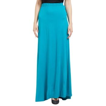 Blue printed viscose skirts