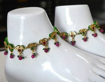 Kundan Ethnic Anklets