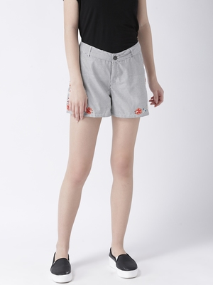Grey printed polyester bottoms