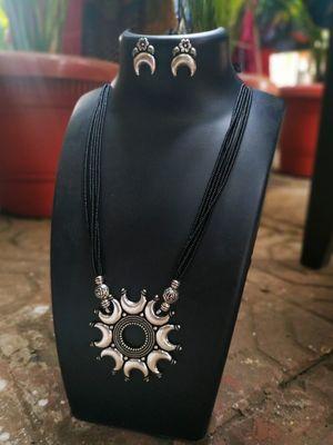 Silver mangalsutra