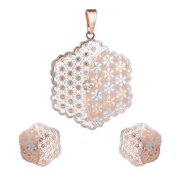 Pink diamond necklace-sets