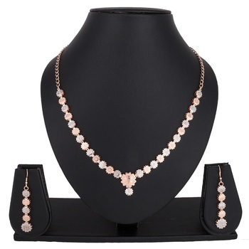 Pink emerald  necklace-sets