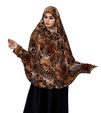 Stitched Lycra Chaderi Makhna Hijab With Veil And Sleeves